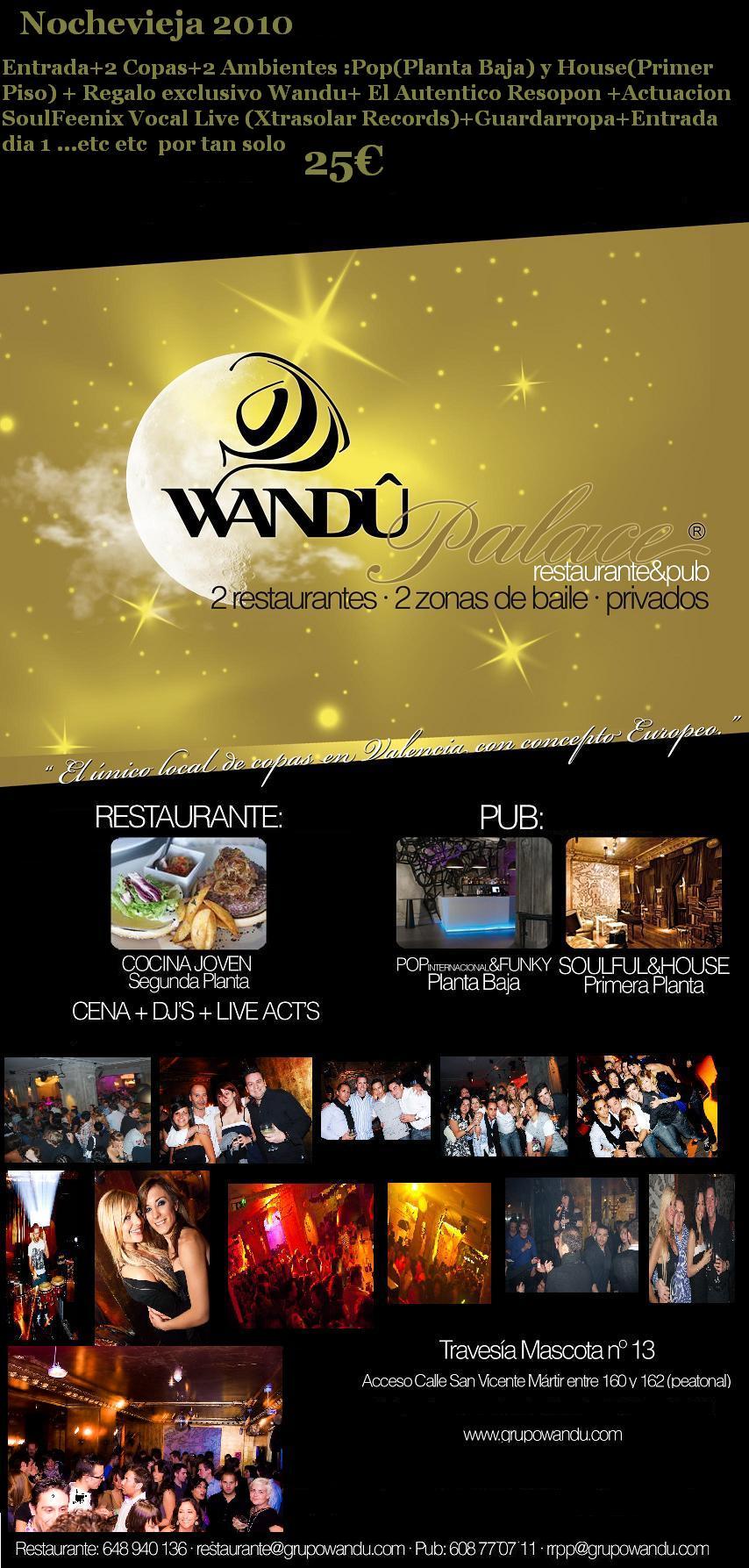 Nochevieja 2010 en wandu palace fiestas noche - Restaurantes valencia nochevieja ...