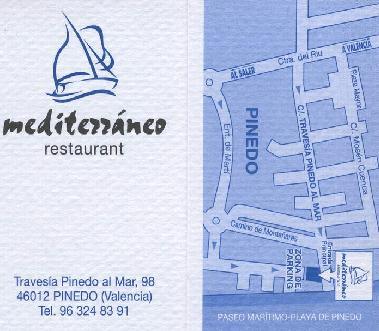 Restaurante mediterr neo en restaurantes valencia el palmar - Restaurante mediterraneo pinedo ...